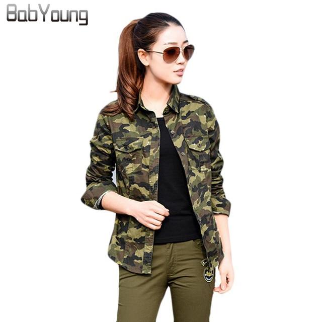 Femenino Militar Camisas Blusas 2018 Ejército Femininas Manga Larga Babyoung Mujer Camuflaje Otoño Tops Mujeres 6XxRXwHqC