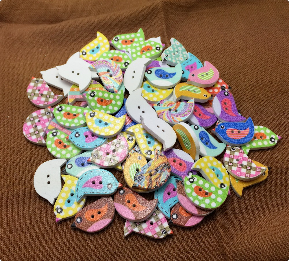 Sale 2015 new 100pcs sets 2 holes mixed color lovely for Craft buttons for sale