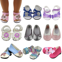 18-inch Doll Shoes-My Little Baby Accessories fit 18american/life/generatian doll-fashion Toy Sandal Girls best Gift