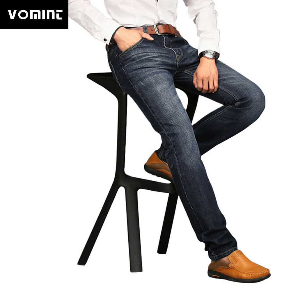 2017 Hot sale! Men jeans New Fashion Trousers Straight slim mid waist popular men's Wash jeans Plus size 29-42 1908