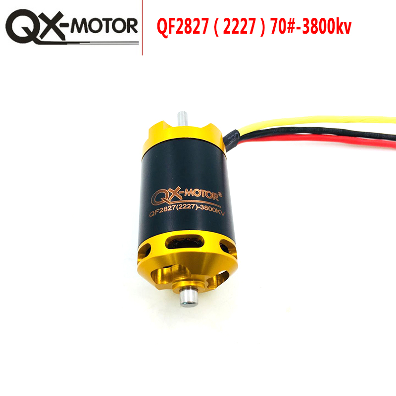 QX MOTOR QF2827 3800KV Brushless Motor for 70mm Ducted Fan 6 Blades EDF for RC Airplane fms 70mm 12 blades v2 ducted fan edf unit with 2860 kv1850 2845 kv2750 brushless motor