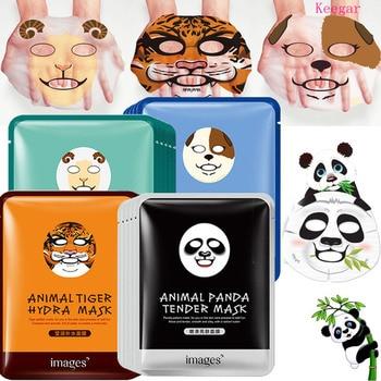 Images Animal pattern Face Mask Deep Moisturizing Sheet Mask Oil Control Mask for Woman Panda Tiger Korean Facial Masks алиэкспресс сумка прозрачная