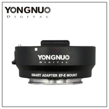 NEW YONGNUO Smart Adapter EF-E Mount for Canon EF Lens to Sony NEX Smart Adapter Mark III (Black) EF to E-Mount