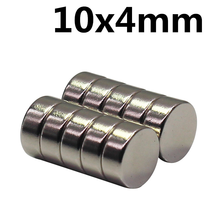 10pcs 10 X 4 Mm N35 Strong Neodymium Magnets 10mmx4mm Automobile Engine Oil Filter Strong Magnet Economizer Craft