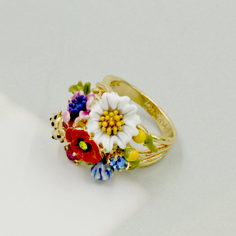 Les Nereides Beatles Blooming Flowers Rings For Women High Quality Jewelry Wholesale