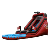 9.4mLx3.9mWx5.5mH Pirate theme giant inflatable water slide with pool for adults kids inflatable water park toy wet slide