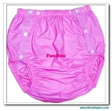 Бесплатная доставка FUUBUU2203-Pink-XL-1PCS подгузники для взрослых не одноразовые пеленки пластиковые пеленки Штаны шорты из ПВХ