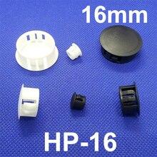 50 шт. HP-16 16 ММ Диаметр Черный Белый Нейлон Пластиковые Диаметр Заглушка Заглушка Нажмите Кнопку Блокировки Крышки Панели Сверла отверстие Пробкой