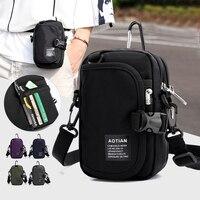 Мужские сумки, мини-сумка, детская простая маленькая сумка через плечо, сумки для сотового телефона, повседневная женская сумка на плечо с к...