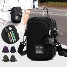 Man Handbags Mini Messenger Bag Children Simple Small Crossbody Cell Phone Bags Casual Ladies Flap Shoulder Bag Cion Purse