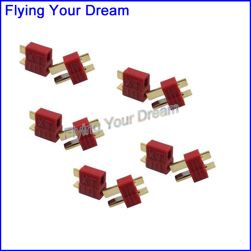 Dean Connector T Plug Male Female For ESC Battery FPV RC Spare Parts 5Pairs