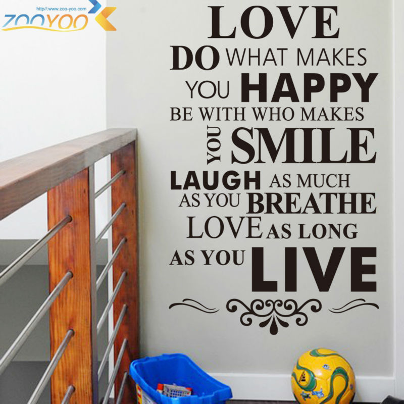 Love Do What Makes You Happy Harmony Life Quotes Family Diy Wall