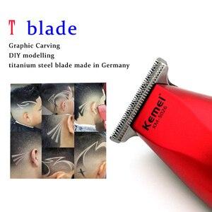 Image 2 - Kemei Professional Hair Clipper Cordless 0mm Baldheaded Hair Beard Trimmer Precision Modelling DIY Hair Cutter Haircut Machine