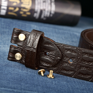 Image 5 - Genuine Leather Belts Without Buckle for Men Brand Strap Vintage Jeans Cowskin Strap With One Layer Leather 3.8cm Wide