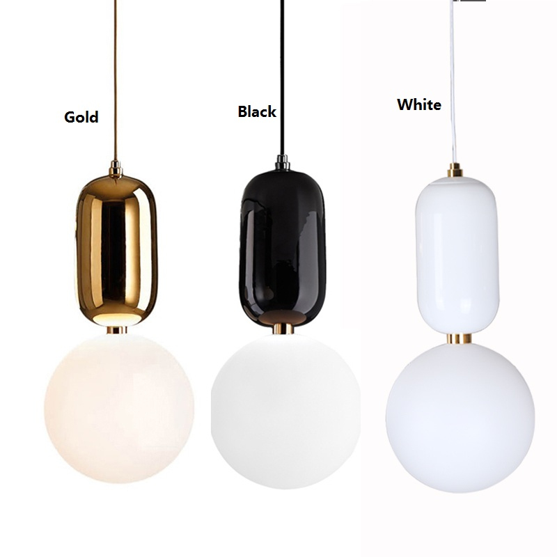 Nordic fabric cloth black pendant light fixture modern for Living room hanging lights