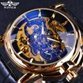 Winner 2016 Navigator Series Men Watches Top Brand Luxury Skeleton Mechanical Watch Clock Men Gold Watches Men Wristwatch Montre