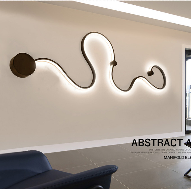 Modern Abstract Art Decor Led Wall Light Bedside Wall