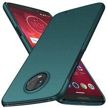 สำหรับ Motorola Moto Z3 Play Z2 Play, ultra Thin Minimalist โทรศัพท์ป้องกันกรณีปกหลังสำหรับ Motorola Moto Z3 Play