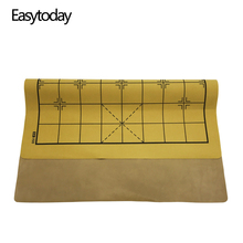 Easytoday Chinese Chessboard Synthetic Leather Chess Games Accessories One Side Standard Board