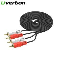 Cable RCA de alta fidelidad de 2rca a 2rca, Cable de interconexión, doble RCA, macho a macho, estéreo HIFI pares