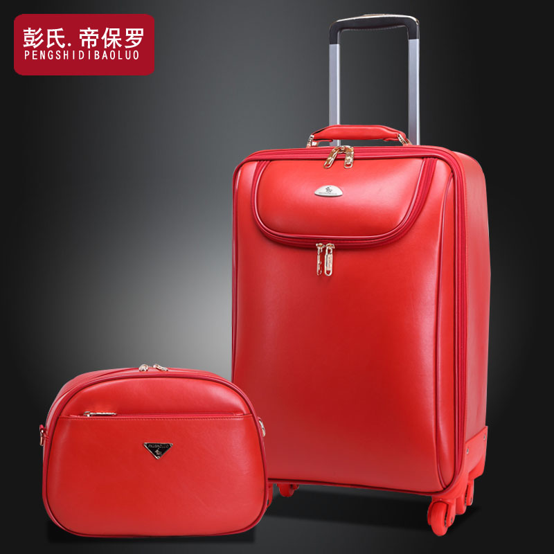 Womens married trolley luggage box,14+20 inches sets,male universal wheels luggage travel bag soft box luggage bags sets