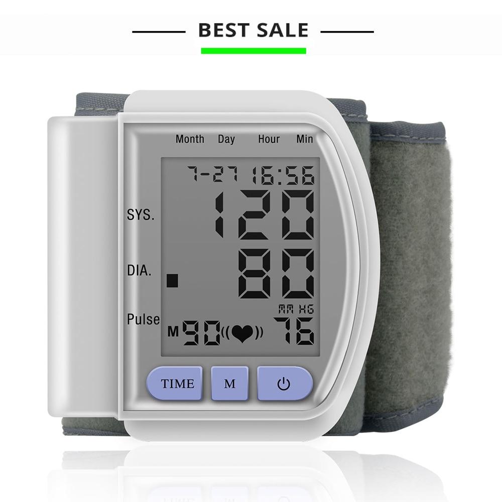 easy operate digital wrist blood pressure monitor health Sphygmomanometer de presion arterial
