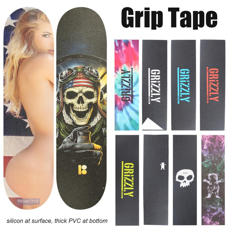 Skateboard Grip Tape Imported Sandpaper Wear-Resistant Thickening Anti-Skid Skateboard Colorful Grip Tape