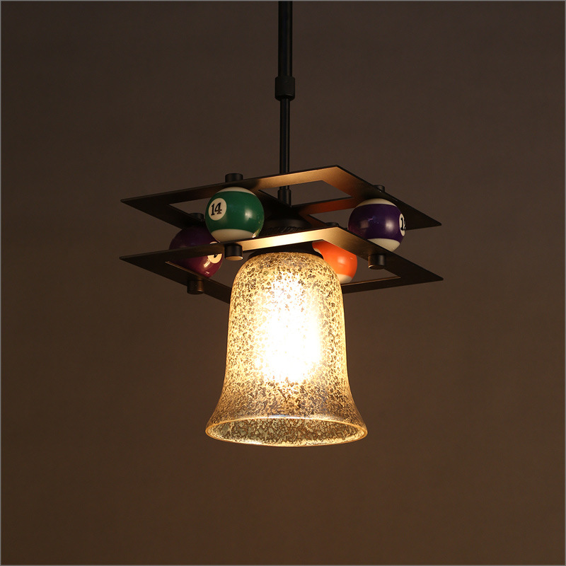 American creative sinngle head retro loft pool table shape pendent lamp E27 individual glass drop lights A122 всепогодная акустика focal chorus od 706 v