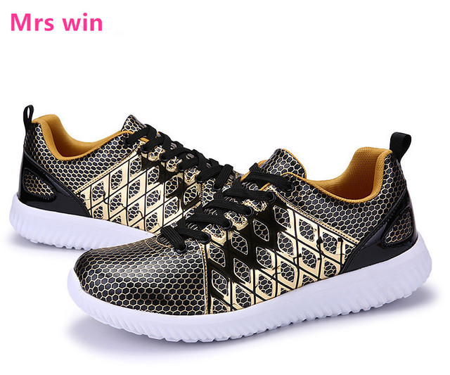 New Outdoor Sport shoes Running Shoes Men Sneakers zapatillas deportivas hombre Breathable Mesh Golden Trainers Shoes