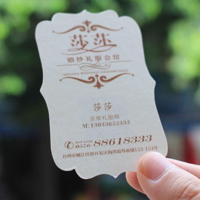 500 pcs/lot custom shape business cards Custom shaped business cards