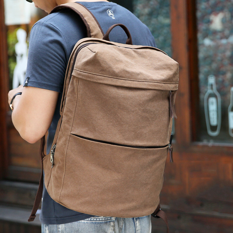Women s Classic Multifunction Traveling Backpack Men Business USB Charge Canvas Backpacks Solid Laptop Schoolbag For
