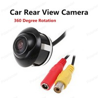 Hot 360 Degree Rotation Car Rear Front View Camera Double To Switch CCD Upgrade Section Parking