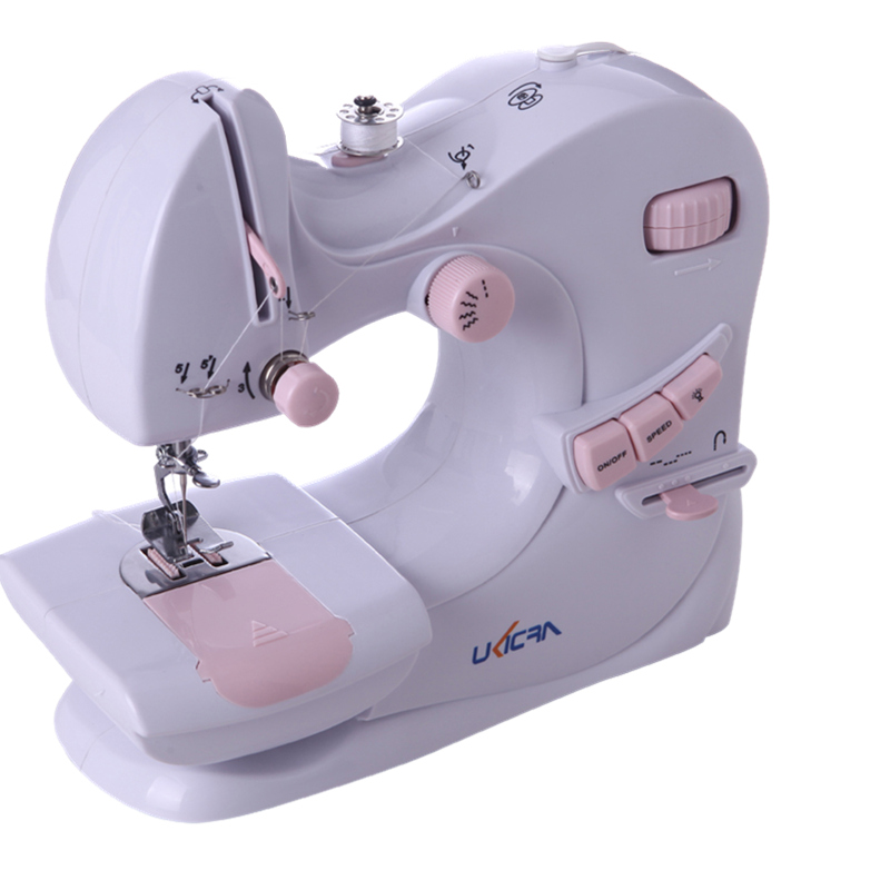 Petite Machine à coudre électrique domestique créative Mini ligne de bureau multifonction Simple avec bord de verrouillage