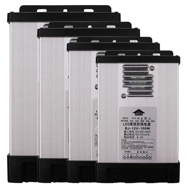 Dc 12v 24v outdoor led rainproof power supply light transformer dc 12v 24v outdoor led rainproof power supply light transformer driver switch for led strips adapter workwithnaturefo