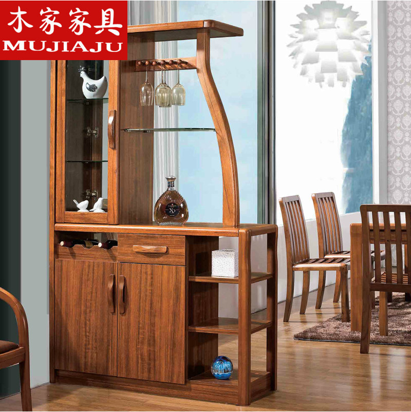 Chinese Style Furniture Solid Wood Sideboard Cabinet Wine Storage
