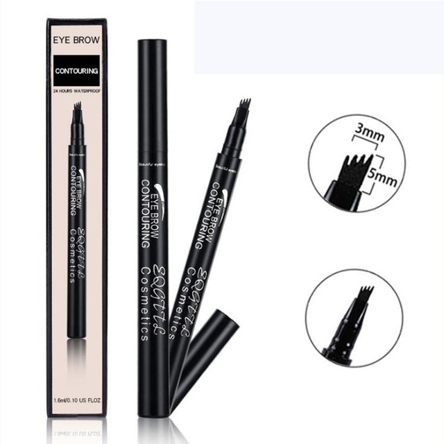 4 Head Makeup Eyebrow Enhancers 5 Colors High-end Automatic Matte Eyebrow Pencil Waterproof Tattoo Pen Long-lasting Cosmetics 2