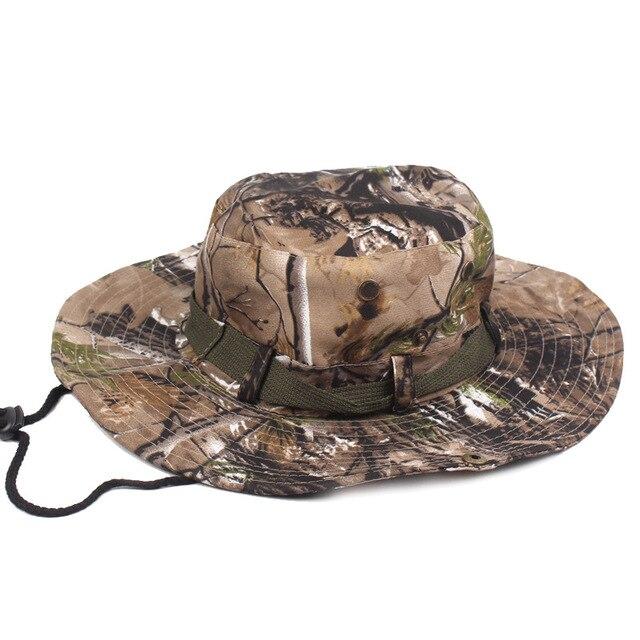 Mode 2017 baru tiba unggul bucket hat boonie lebar kamuflase cap matahari  topi militer penuh 48768944c0