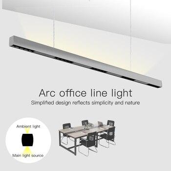 SCON 36W 120cm linear bar licht kreative led Rechteckige linie lampe büro kommerziellen beleuchtung moderne innen Ra> 85 hängen lampe