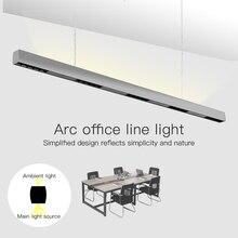 SCON 36W 120cm lineer bar ışığı yaratıcı led dikdörtgen hat lambası ofis ticari aydınlatma modern kapalı Ra> 85 asılı lamba