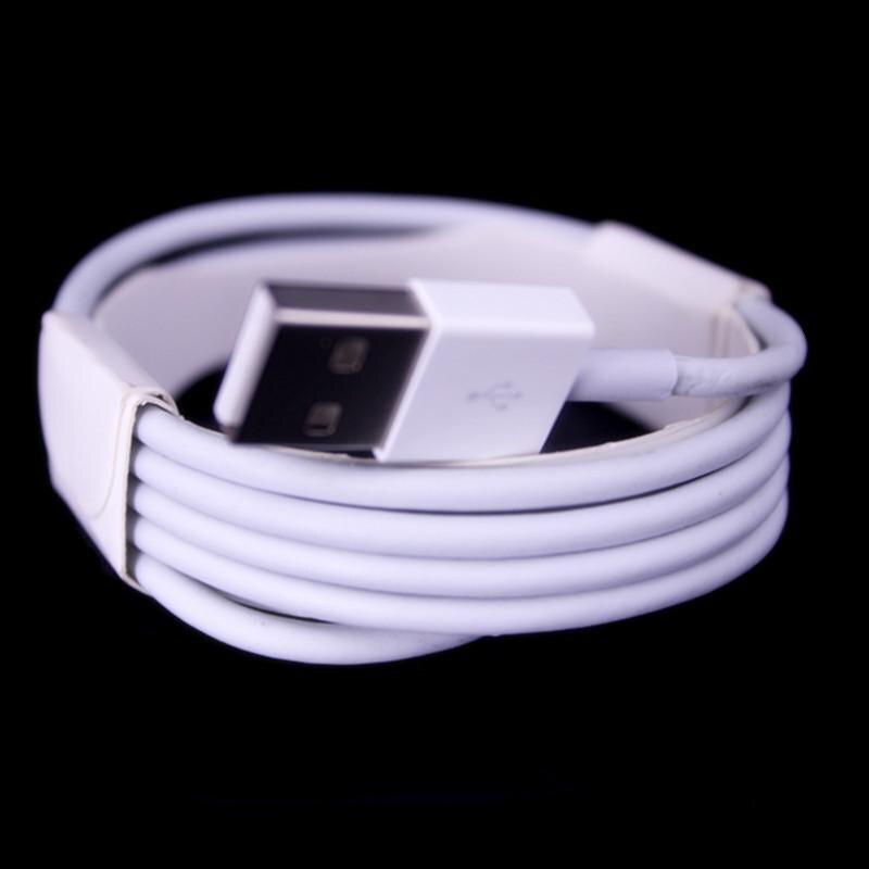 bilder für 100 stücke OD 3,0 Dicke 1 mt 2 mt 3 Mt weiß 8pin Stoff Geflochtene usb-kabel zubehörpakete für handy 5 5 s 6 7 7 plus
