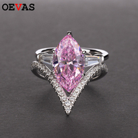 Fashion Engegament Ring for Women Brand Sterling Silver Anniversary Jewelry Charm Wedding band finger rings Women