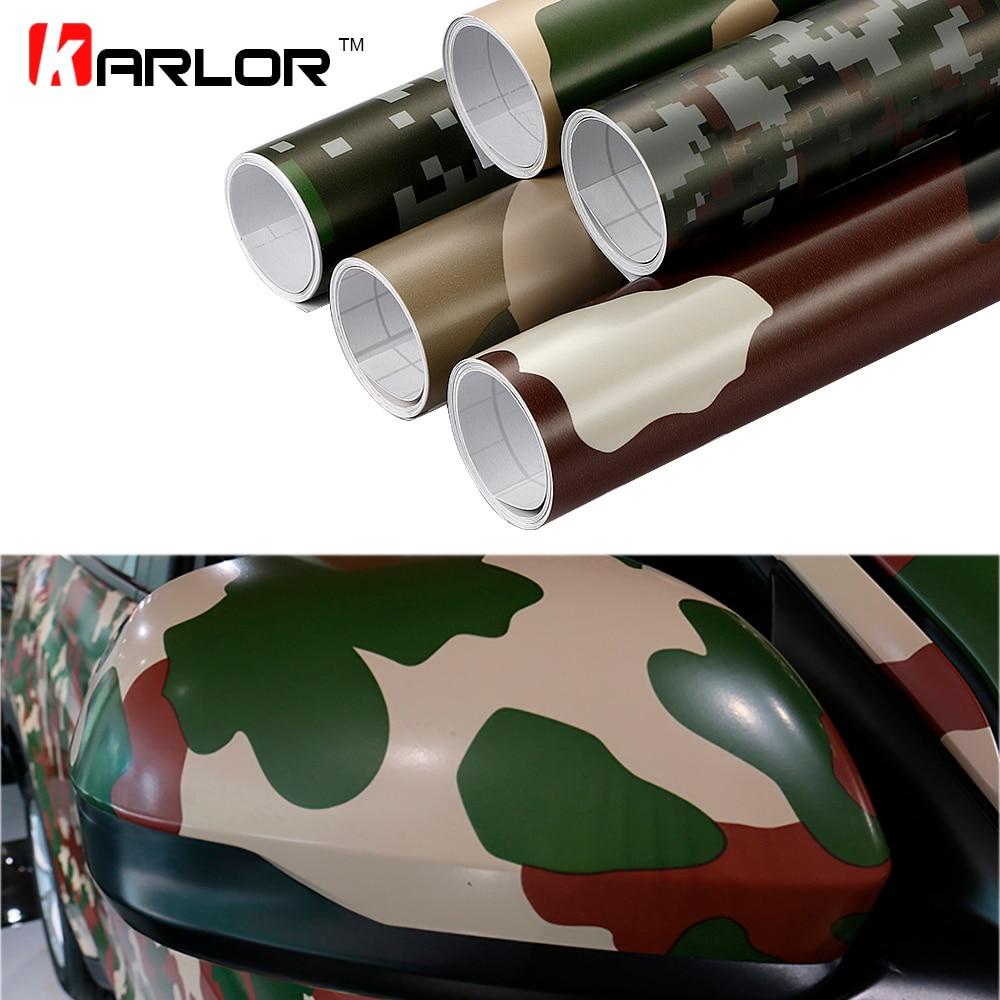 30cm 100cm Camouflage Vinyl Pvc Car Sticker Wrap Film