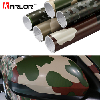 30cm*100cm Camouflage Vinyl PVC Car Sticker Wrap Film Digital Woodland Army Military Green Camo Desert Decal For Auto Motorcycle image