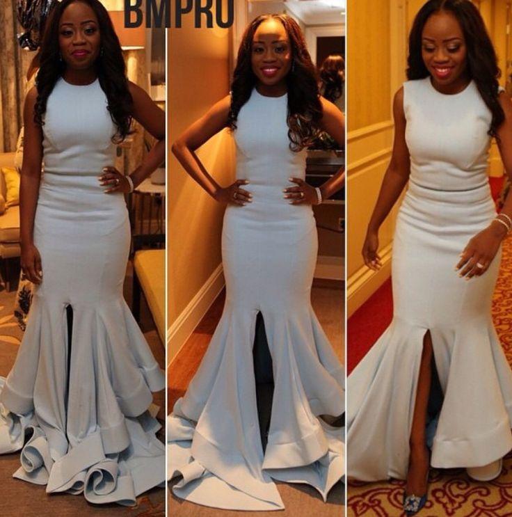 Vestido De Novia African Nigerian Evening Dress Sexy Front Slit Chiffon Mermaid Long Women Formal Gowns F1204 In Dresses From Weddings