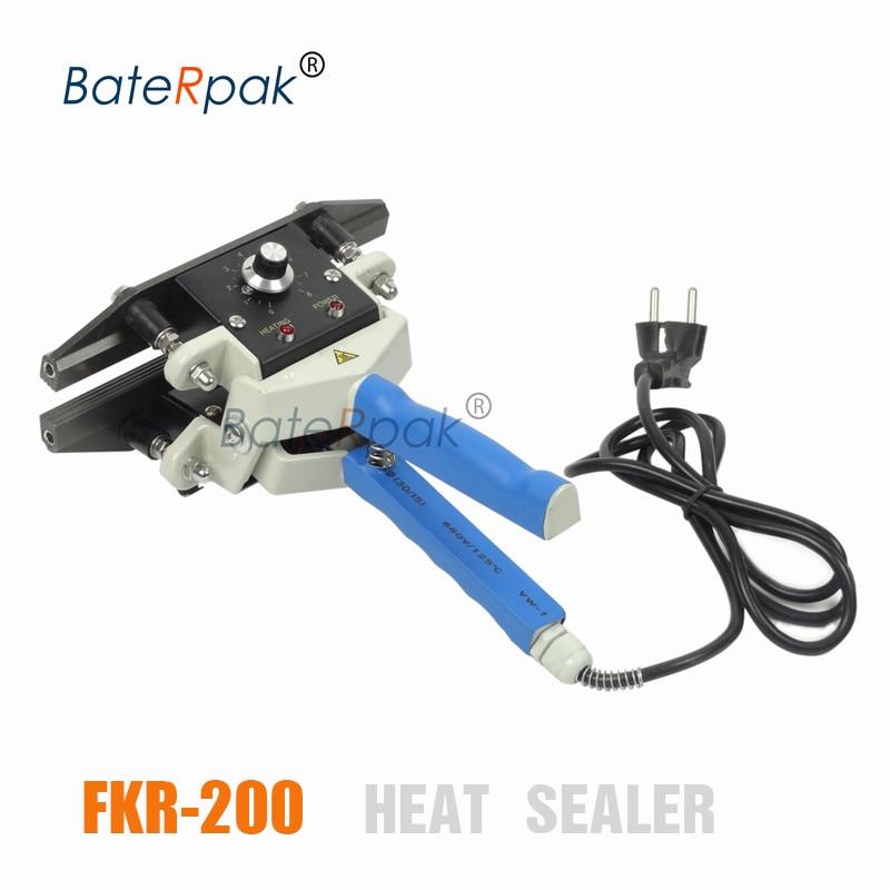 FKR-200 BateRpak Handbediende / dubbele continue verwarmingssealer, lassers voor plastic zakken, kraftpapier zaklasmachine