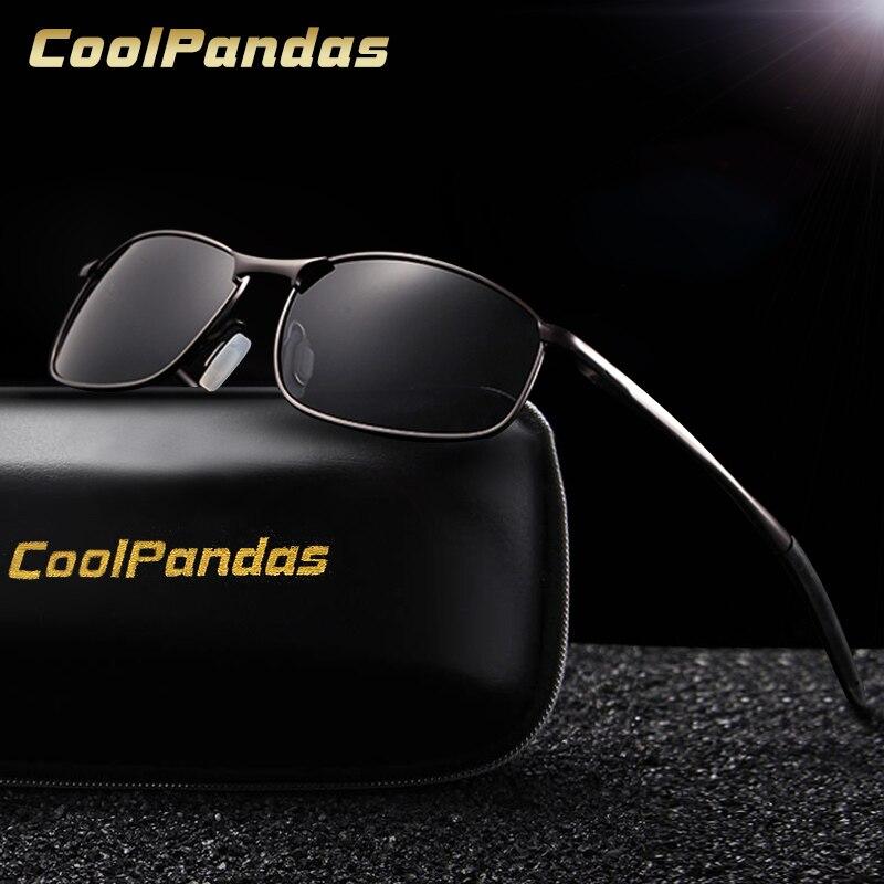 748783d4f35fc COOLPANDAS Polarized Óculos Homem Marca Designer Retro Metal Óculos de  Condução Lente Polaroid para Homens Ao Ar Livre oculos de sol UV400 em  Óculos de sol ...