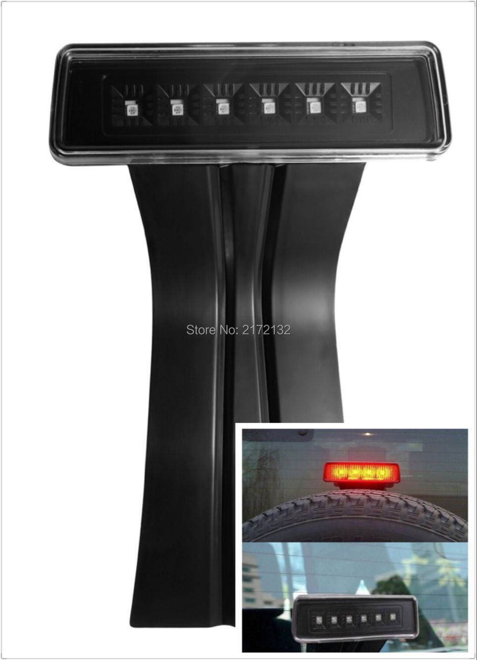 ФОТО 1pcs high quality 6Pcs 2.5W 3rd Red LED Brake Light ABS Brake Light Clear Lens For Jeep Wrangler JK 2007~2015