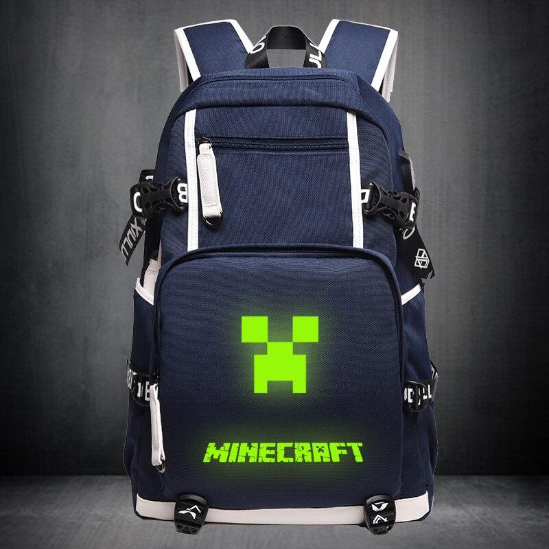 Games Minecraft Charmander Gengar Boys Girls School Bag Women Backpack Teenagers Schoolbags Canvas Men Student Mochila Escolar
