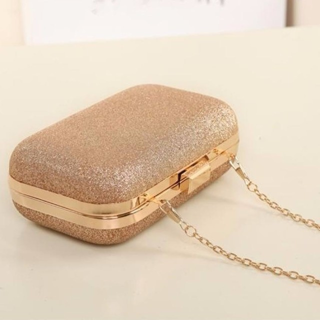 Fashion Women Clutch Box Evening Party Glitter Chain Hand Bags Wallet Ladies hasp party handbags small bags bolsa feminina