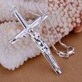 Colgantes cruz de plata 925 collares Colar de Prata 20 '' serpiente cadenas np079 para regalo de san valentín